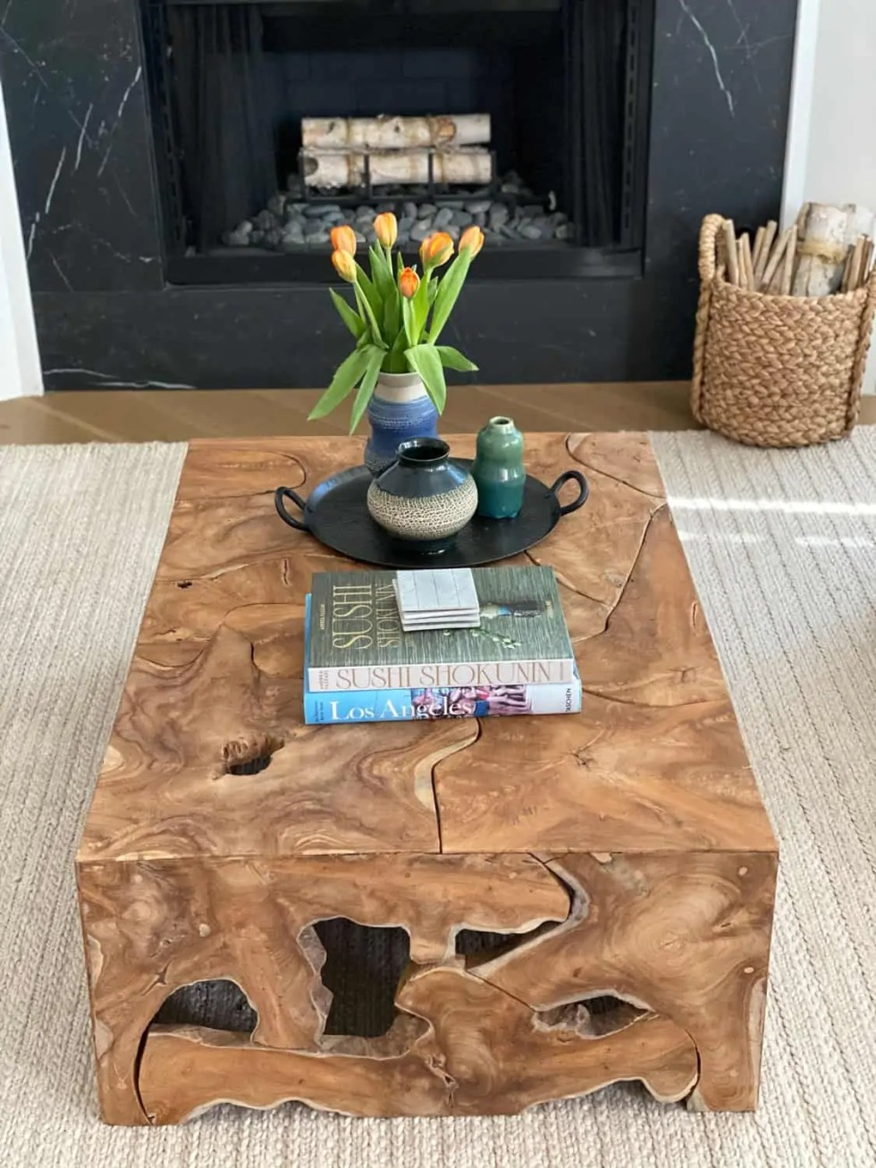 Decorating Modern Traditional Living Room Coffee Table styling
