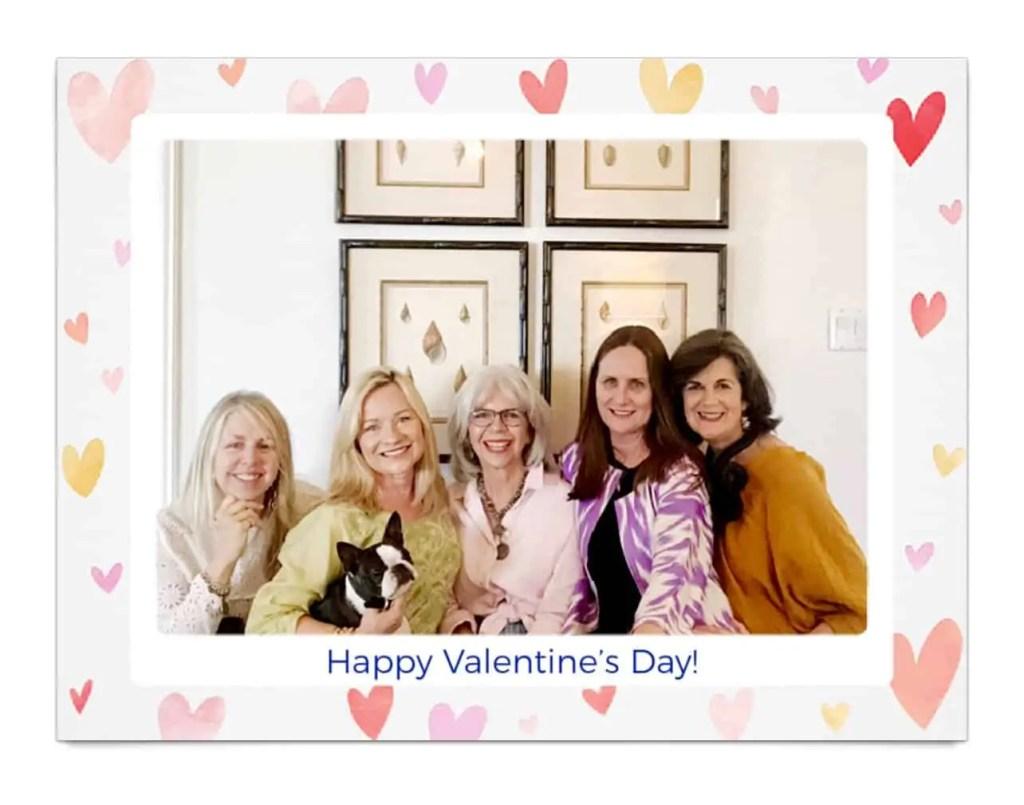 friends Valentine postcard