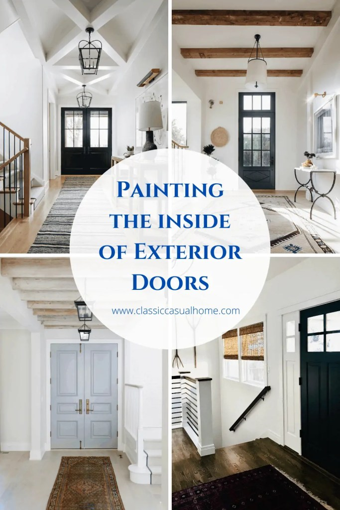 Painting Inside Exterior Doors
