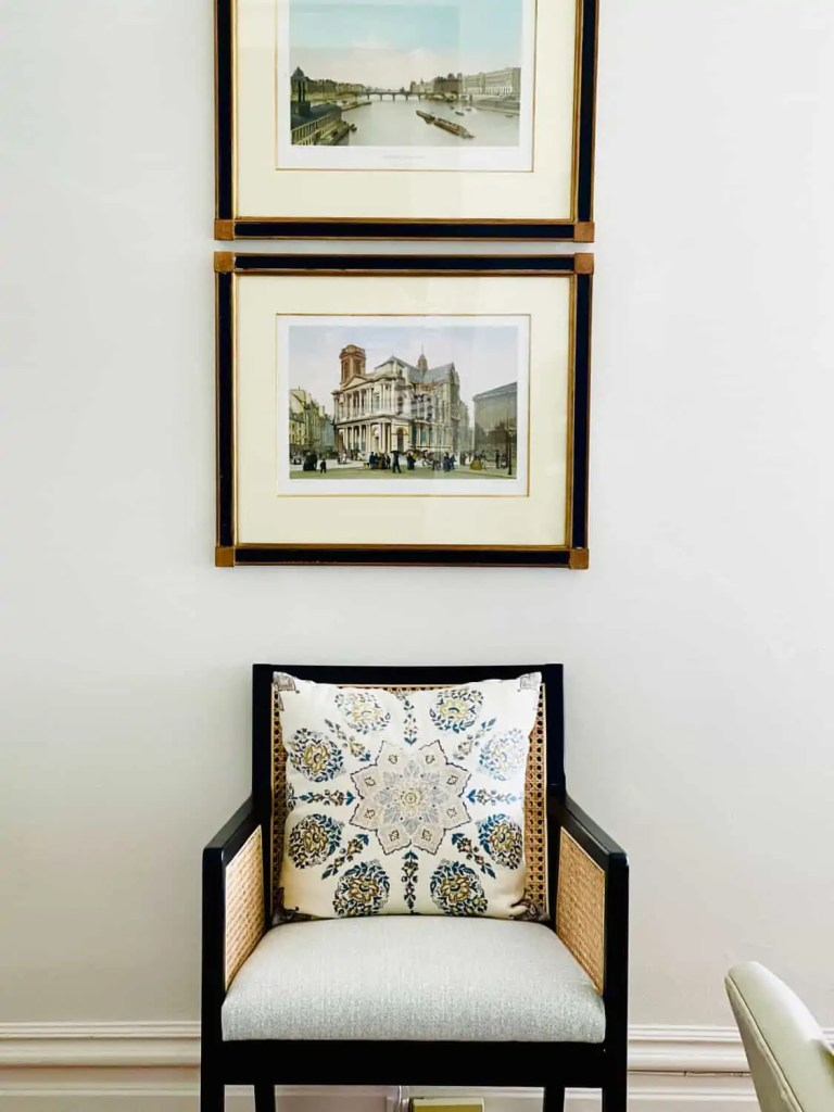 Mary Ann Pickett's cane chair and French engravings