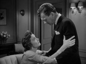 Joseph Cotten and Jean Peters in A Blueprint for Murder