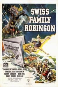 Movie Poster from 1940 Swiss Family Robinson