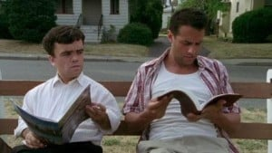 The Station Agent 2003 Peter Dinklage and Bobby Cannavale