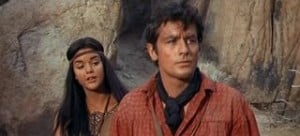 Texas Across the River 1966 Alain Delon and Tina Marquand