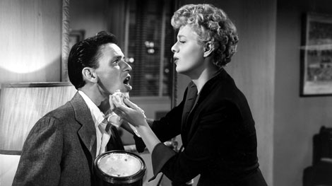Frank Sinatra and Shelly Winters in Meet Danny Wilson (1951)