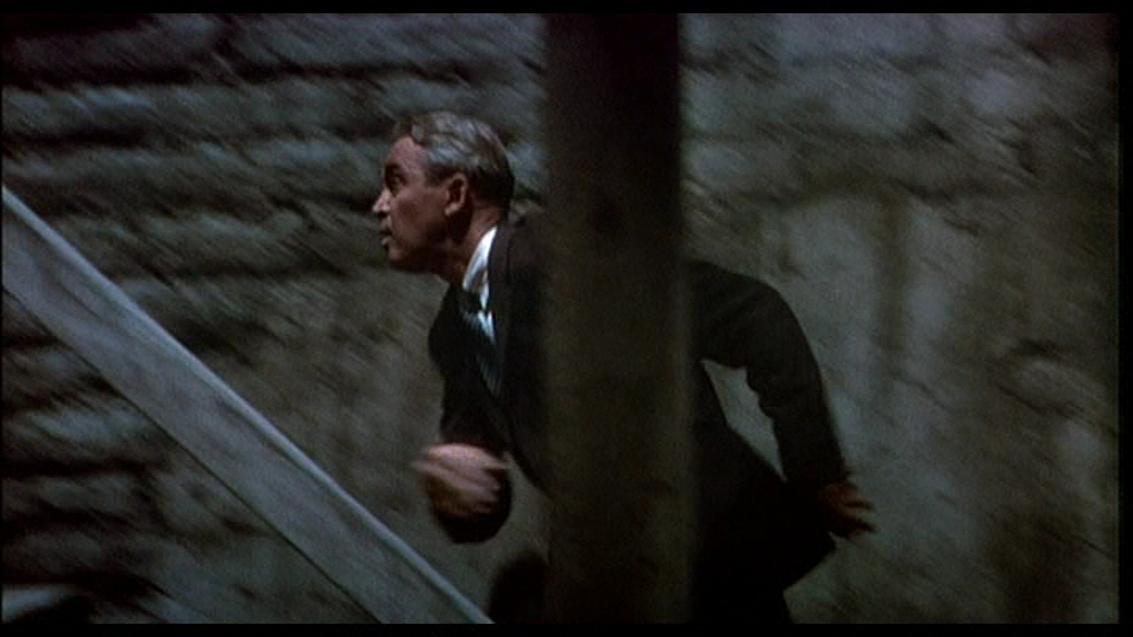 Scottie Dashes Up the Tower in Vertigo (1958)