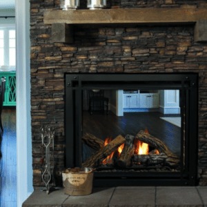 Bentley Seethrough Gas Fireplace by Kingsman