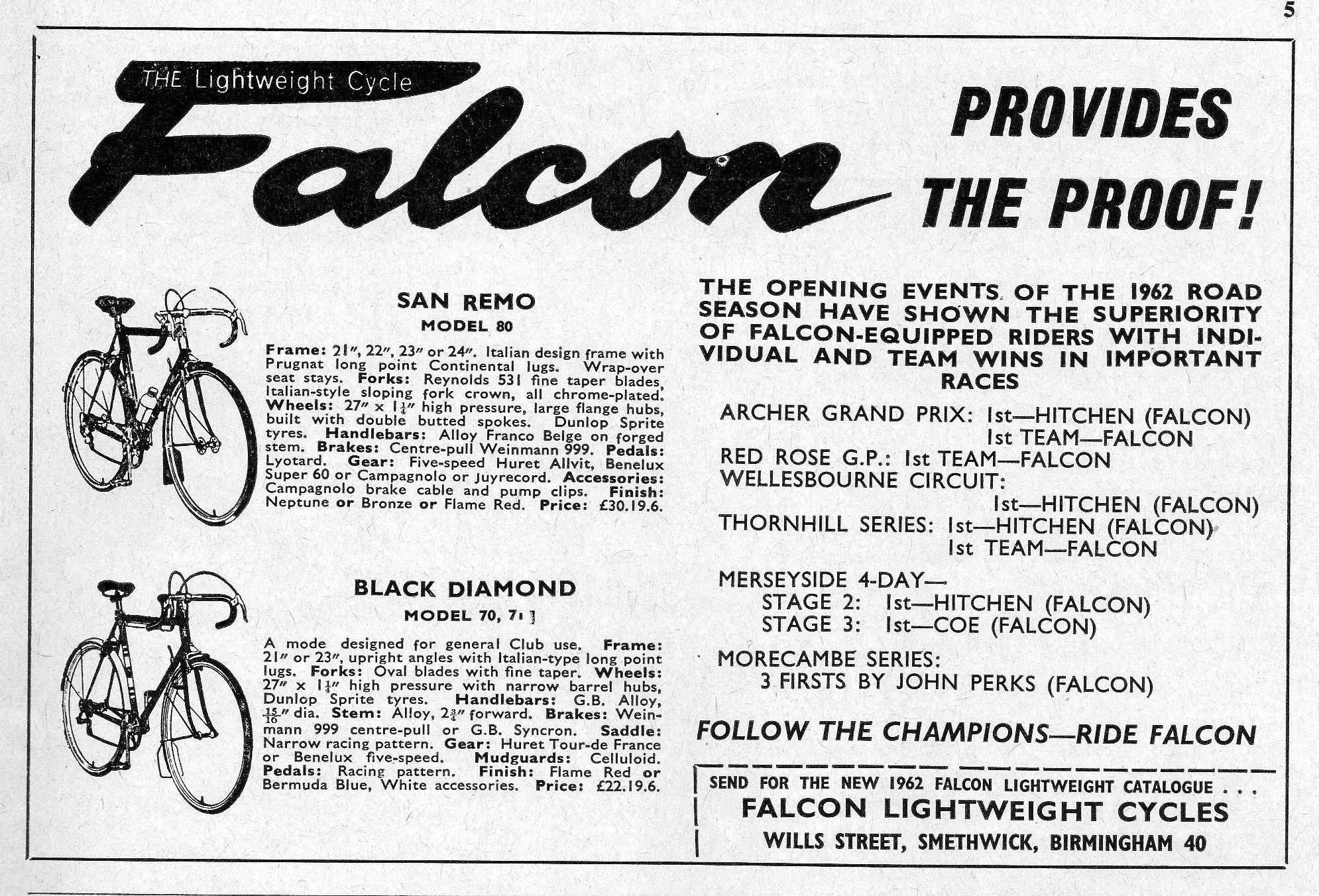 Falcon San Remo Equipe