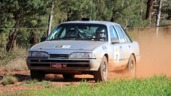 1st OR: Matt Swan and Paul Franklin, 1987 Holden Commodore
