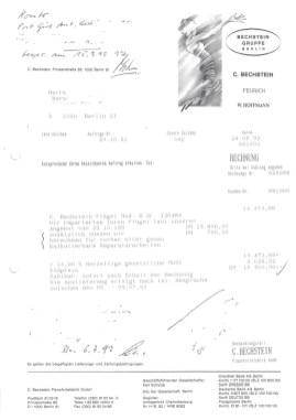 Rechnung Überholung C. Bechstein