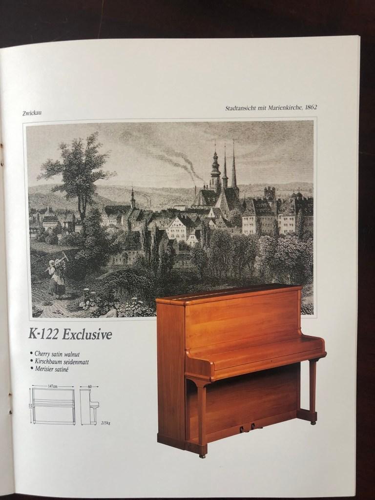 Klavier Ibach K 122 Kirschbaum