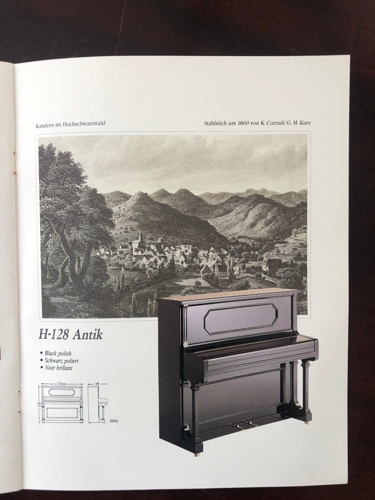 Klavier Ibach H 128