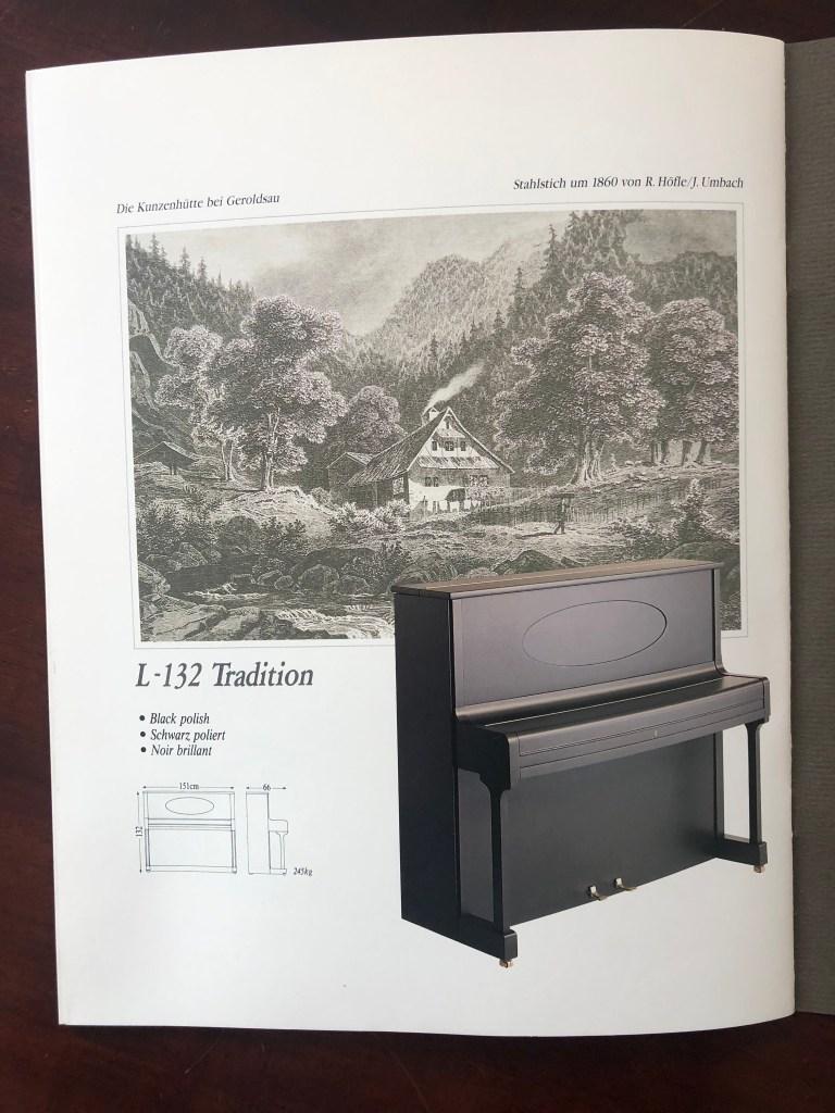 Klavier Ibach L 132 Tradition