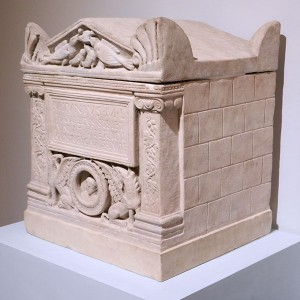 Cinerary urn in the form of a temple, unknown provenance