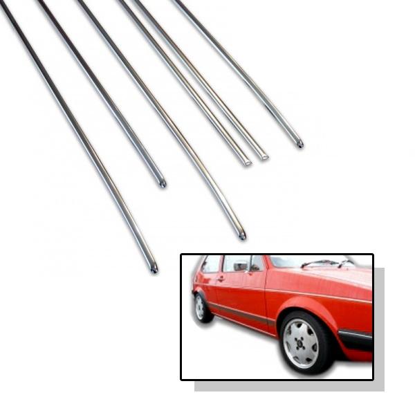 171898113C Listwy Boczne Chrom (3-Drzwiowe) VW Golf 1 / Cabrio