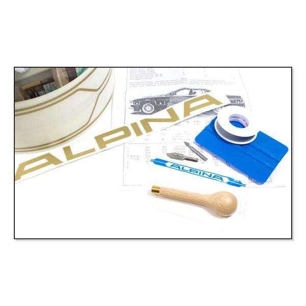 ALPINA4100232 Dekory Dokładki ALPINA (Złote) BMW E24, E28, E30, E34
