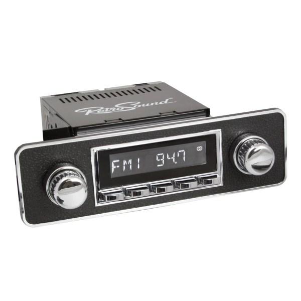 Radio RetroSound HR Chrom Euro Black + Bluetooth