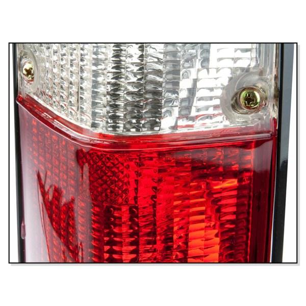 Lampy Tylne Biało Czerwone VW Caddy 1