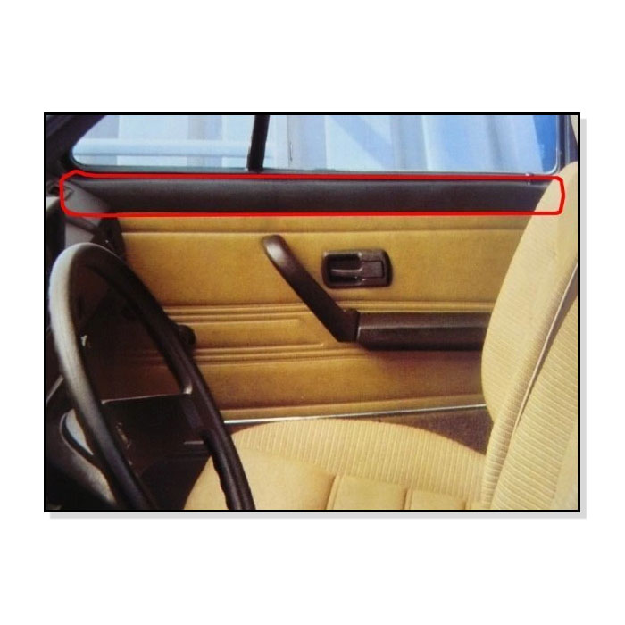 155867219 Górne Tapicerki Parapety Drzwi (Para) VW Golf 1 Cabrio