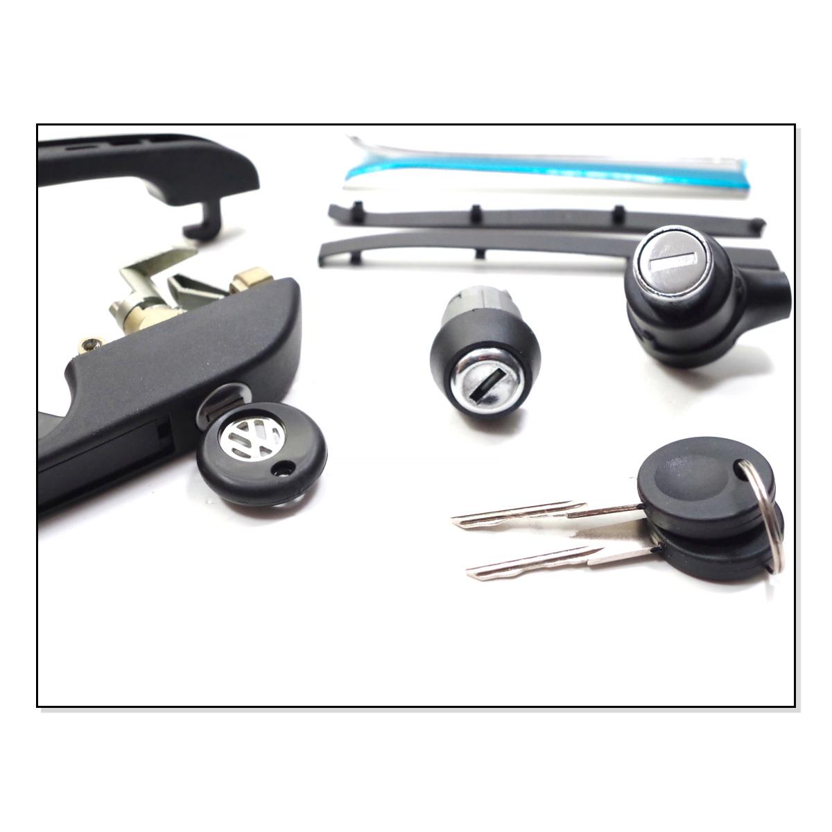 Klamki + Stacyjka (Zestaw Pod Jeden Kluczyk) VW Golf 1