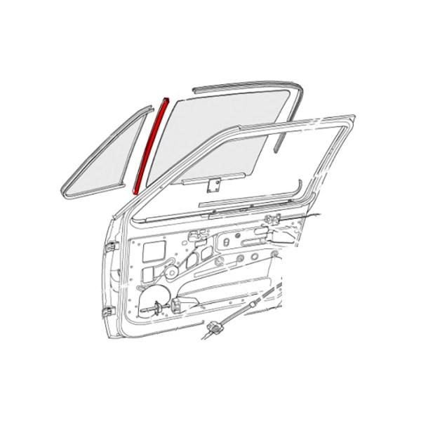 171837433A Uszczelki Prowadnicy Szyby (Para) VW Golf 1, Caddy 1