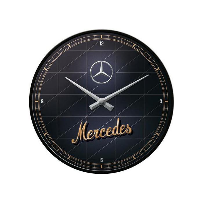 "Zegar Ścienny ""Mercedes-Benz Gold"""
