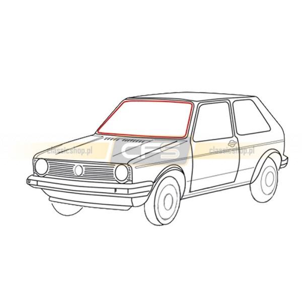 Uszczelka Szyby Przedniej (Pod Klin Chrom) VW Golf 1 / Cabrio