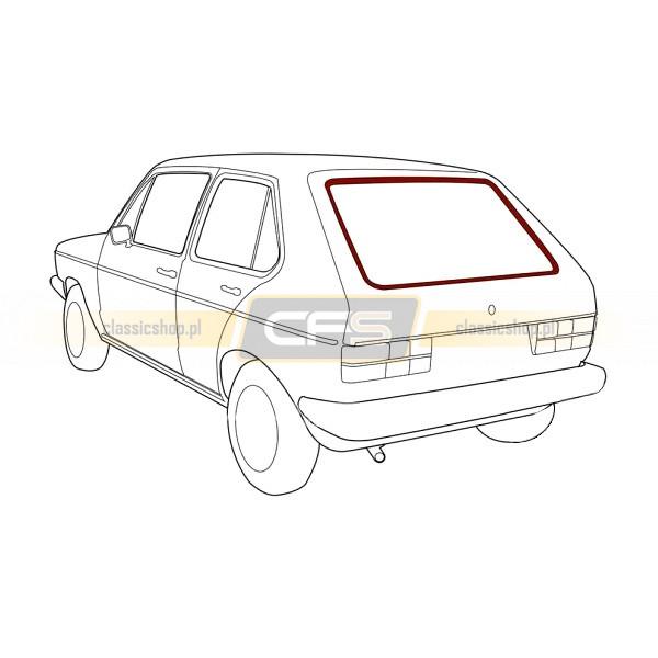 Uszczelka Szyby Tylnej (Pod Klin Chrom) VW Golf 1