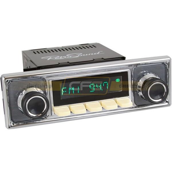 Radio RetroSound HR Ivory Pinstripe + Bluetooth