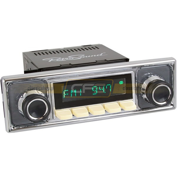 Radio RetroSound HR Ivory Pinstripe + Bluetooth