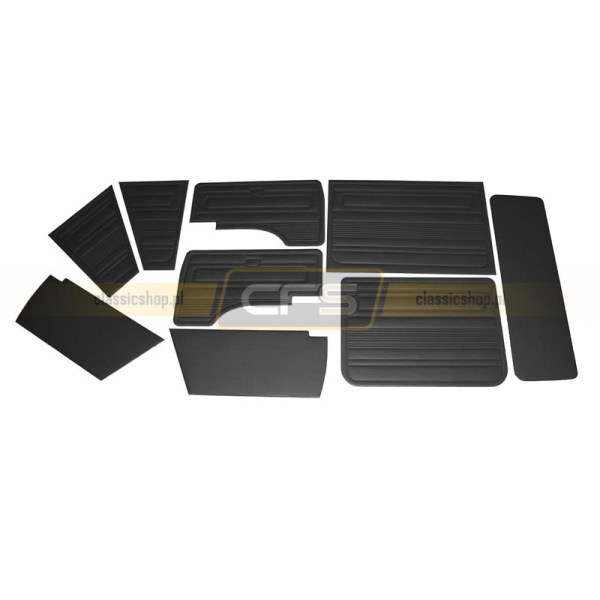 Tapicerki Wnętrza Czarne (Komplet) VW Bus T3 (79-84)