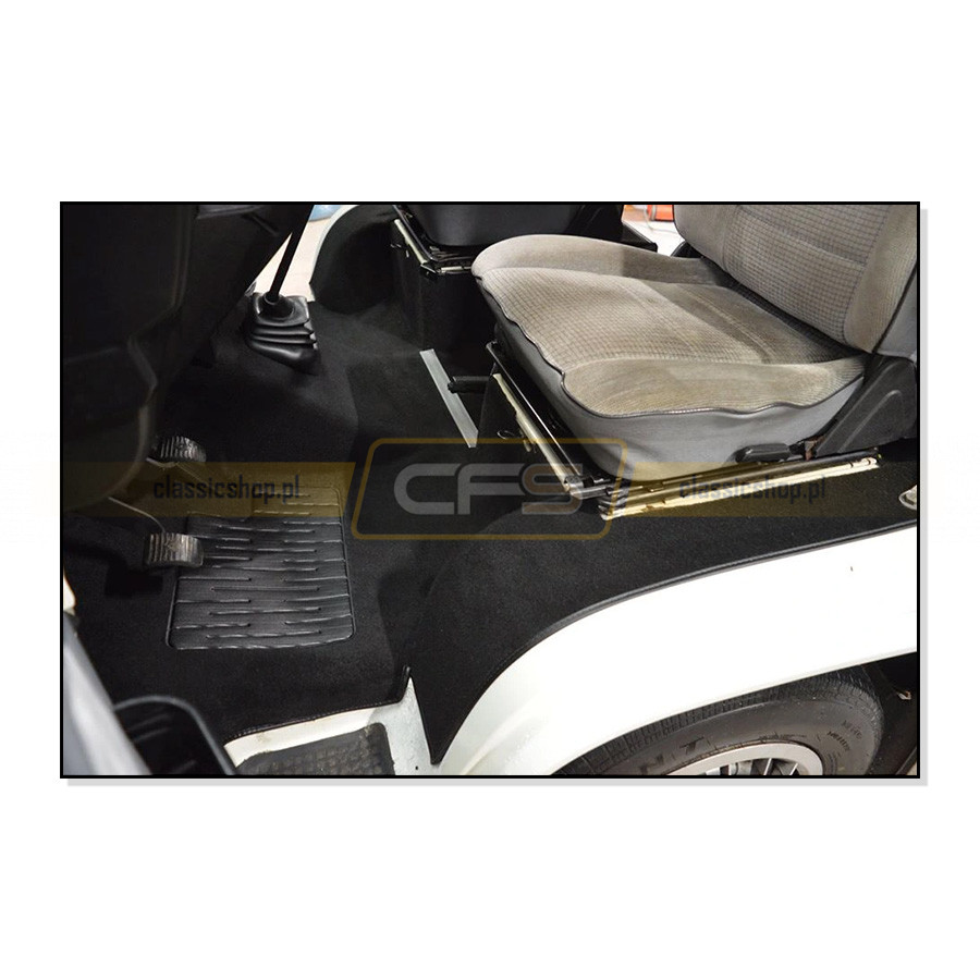Dywany Podłogi Czarne (Komplet) VW Bus T3 (Turbo Diesel)