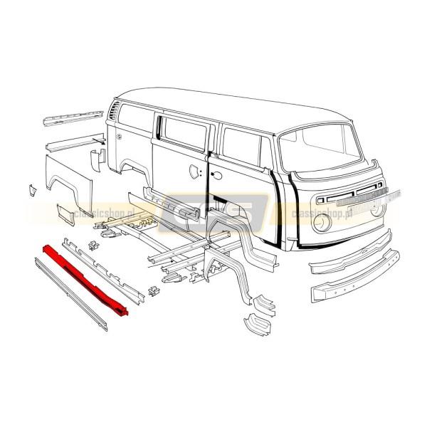 Próg Wewnętrzny Środkowy (OEM) VW Bus T2