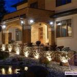 Ландшафтное освещение на даче