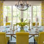 Желтый цвет в интерьере столовой