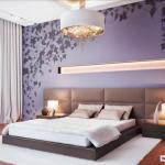 Дизайн интерьер спальной комнаты