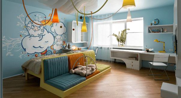 Интерьер детской комнаты. Светильники 02
