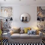 Приемы дизайнеров для увеличения маленькой гостиной