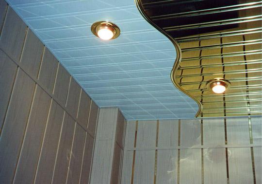 потолок в ванной своими руками