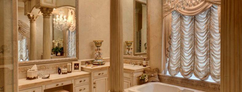 Обустройство ванной комнаты в стиле античности 02
