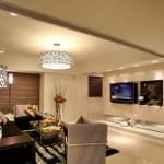 Оформление интерьера гостиной с освещением