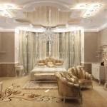 Фрески в интерьере с освещением и на мебели