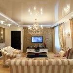 Спальня с освещением в классическом стиле — всегда востребованный вариант