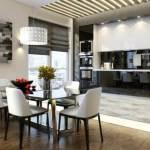 Удобное кухонное оборудование для кухонной мебели с освещением