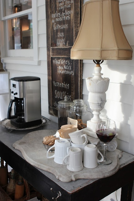 Coffee/Tea Station from Romancing the Home