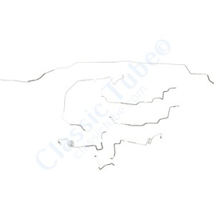 Chevrolet Biscayne Brake Line Kit  Convertible - Power Disc -1969