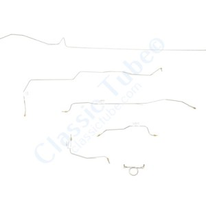 Ford Mustang Brake Line Kit (6 pcs)  Standard Drum - 6 Cylinder -1966