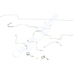 Ford Mustang Brake Line Kit (9pcs)  Standard Drum - All -1970