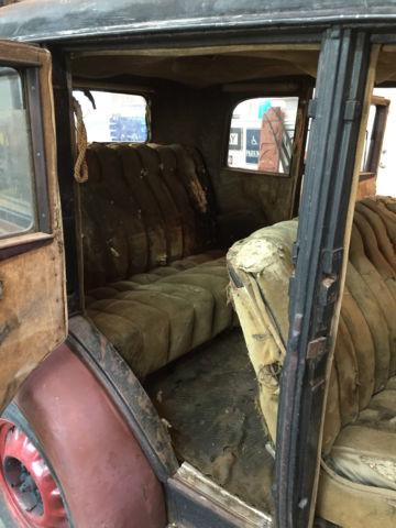 1930 Chevrolet 4 Door Sedan Runs And Drives Barn Find 1927