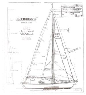 Bumburra sail plan